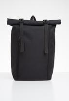 Superbalist - Roll up backpack - black