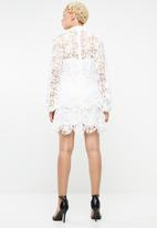 Missguided - Crochet layered dress - white