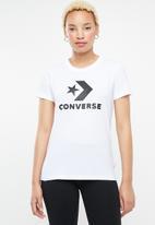 Converse - Star chevron core tee - white