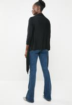edit - Light weight waterfall cardi - black