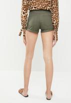 c(inch) - Twill shorts with pockets - khaki