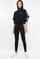 adidas Originals - Cropped hoodie - black