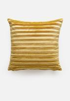 Sixth Floor - Cara velvet cushion cover - mustard