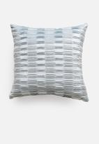 Sixth Floor - Cole velvet cushion cover - duckegg