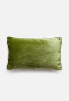 Sixth Floor - Carter velvet cushion cover - olive green