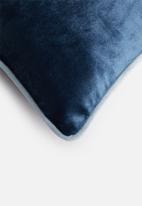 Sixth Floor - Carter velvet cushion cover - navy