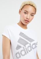 adidas Performance - Short sleeve badge of sport logo tee - white