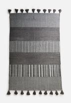 Sixth Floor - Taio printed cotton rug - grey