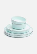 Urchin Art - Dewey dinner plate set of 2 - blue