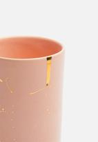 Urchin Art - Pink toothbrush tumbler - pink & gold