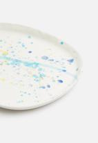 Urchin Art - Oval dribble trinket tray - multi