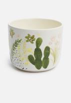Urchin Art - Floral coco pot - multi