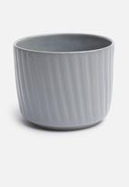 Urchin Art - Lines coco pot - grey