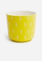 Urchin Art - Zuri outdoor planter - yellow