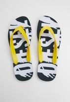 Diesel  - Plaja splish flip flop - yellow & white