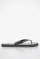Billabong  - North point thongs - black & grey
