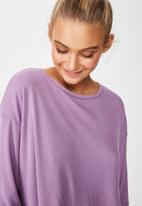 Cotton On - Layered long sleeve top  - purple