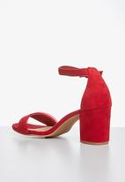 Superbalist - Gia ankle strap heel - red