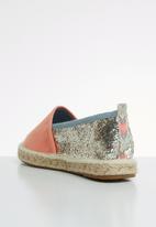 ONLY - Eva glitter espadrillos - peach & silver