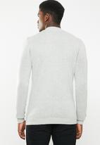 Superbalist - Regular fit high neck knit - grey