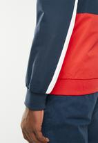 Jack & Jones - Halrow blocking jacket - navy & red