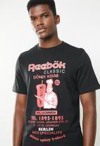 Reebok Classic - Classic döner kebab tee - black