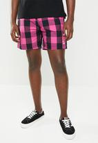 G-Star RAW - Dirk swimshort - pink & black