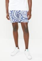 G-Star RAW - Dirk swimshort - blue & white