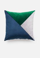 Grey Gardens - Train track cushion cover - blue