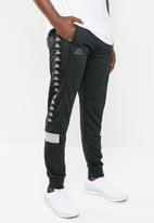 KAPPA - Banda mems pants - black & grey