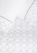 Sheraton - Cole embroidered duvet cover set - white & grey