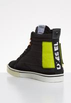 Diesel  - D-velows mid patch - black & yellow fluo