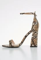 Public Desire - Tess heel - brown