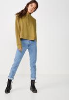 Cotton On - Prue half zip fleece crew  - khaki