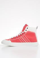 Diesel  - S-astico mid lace - star white & poppy red