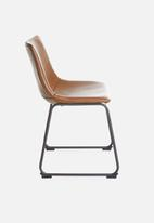 Sixth Floor - Industrial dining chair - brown
