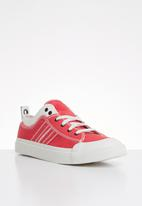 Diesel  - S-asrico low lace  - white & red