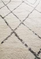 Fotakis - Royal nomadic shaggy rug - cream triangles