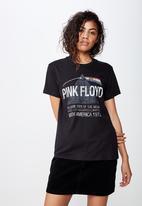 Cotton On - Classic pin pink floyd tee  - black