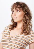 Cotton On - Lylah henley short sleeve top - multi
