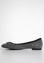 ONLY - Bee shimmer ballerina - silver
