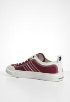 Diesel  - S-astico low lace  - white & burgundy