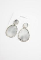 Superbalist - Animal print statement earrings - black & silver
