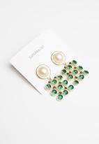 Superbalist - Pendant earrings - green & gold