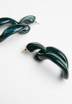 Superbalist - Remi resin hoops - green
