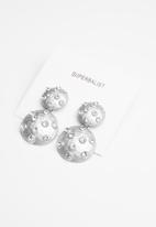Superbalist - Studded statement earrings - silver