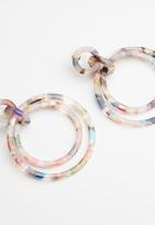 Superbalist - Multi hoop resin earrings - multi
