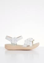 POP CANDY - Flower  detailed sandal - white