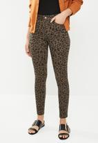 Sissy Boy - Axel leopard print jeans - brown & black