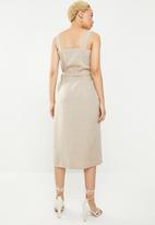 STYLE REPUBLIC - Midi front button dress - beige